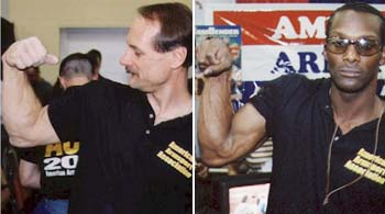 "Allen Fisher (links) und Andrew ""Cobra"" Rhodes"