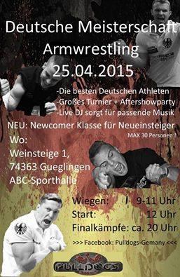 28. Deutsche Armwrestling-Meisterschaft 2015